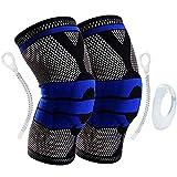 AveDistante Rodilleras Deportivas Rodillera de compresión para Crossfit Correr Deportes Baloncesto Desgarro de Meniscos Artritis Alivio para el Dolor en Las Articulaciones