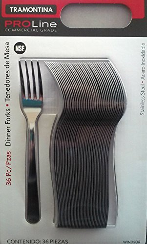 (Tramontina Pro Line 36 Dinner Forks Commercial Grade Stainless Steel)
