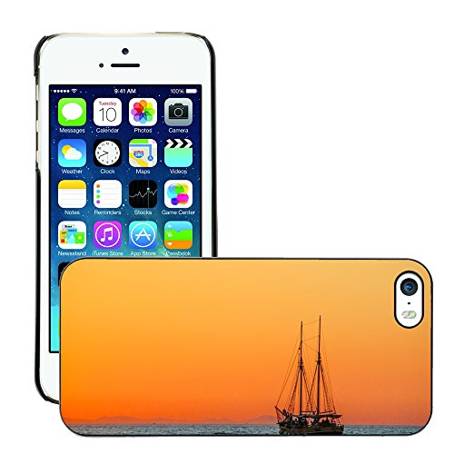 Stampato Modelli Hard plastica Custodie indietro Case Cover pelle protettiva Per // M00421622 Sea Sailing Vessel Boot navire // Apple iPhone 5 5S 5G