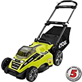 Ryobi RY40180 40V Brushless Lithium-Ion Cordless Electric Mower Kit, with 5.0Ah Battery, 19.88″ x 40.748″ x 22.677″ Review