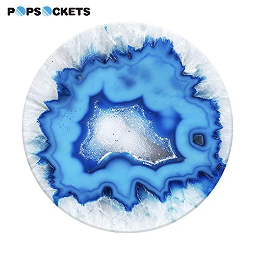 PopSockets: Collapsible Grip and Stand for Phones and Tablets - Ice Blue Agate