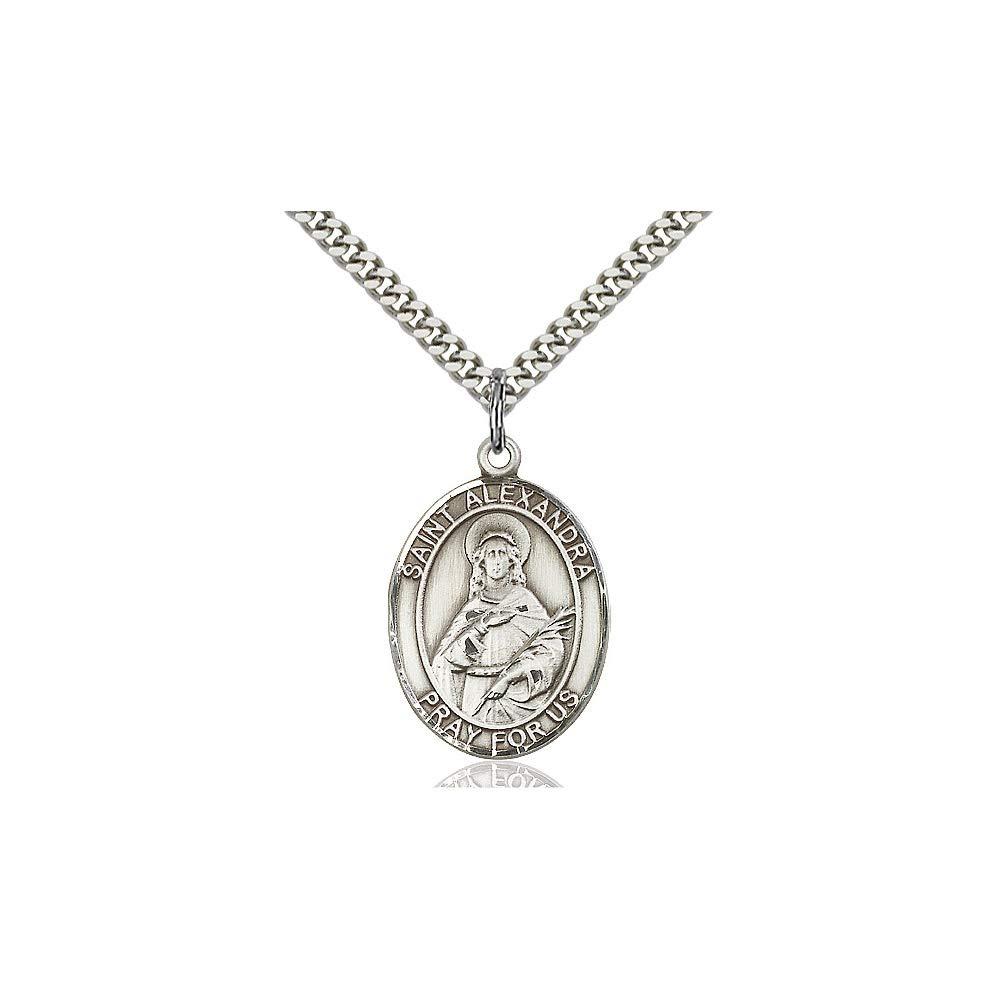 DiamondJewelryNY Sterling Silver St Alexandra Pendant