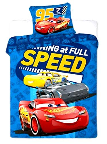 Minions,Disney Pixar Cars,Peppa Pig,Marvel Comics Single Duvet Cover&Pillowcase (Disney Pixar Cars) ()