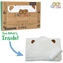 Hooded Baby Towel and Washcloth LUXURY Set   Extra Soft 600 GSM 100% Bamboo for Infant, Toddler, Newborn and Kids Great for Boys and Girls at Bath Time, Pool and Beach Superior to Organic Terry Cotton