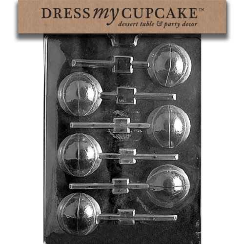Dress My Cupcake Chocolate Candy Mold, Basketball Lollipop 3D