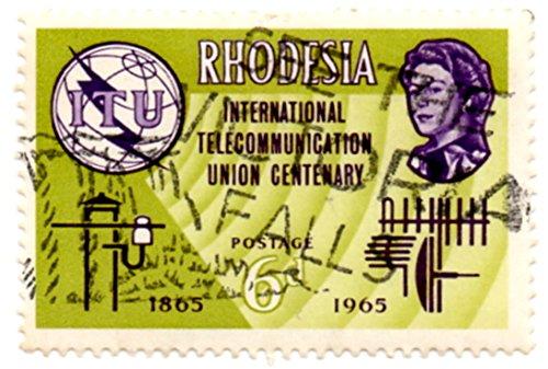 Rhodesia Postage Stamp Single 1965 Itu Emblem QEII Issue 6 Pence Scott #200