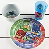Zak Designs PJ Masks Kids Dinnerware Set Includes