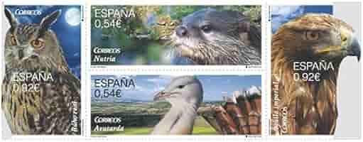 sellos Fauna Protegida 2 x 0,54 € & 2 x 0,92 € – España 2014: Amazon.es: Hogar