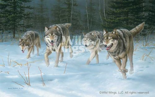 On The Move Wolves by Jim Hautman Limited Edition Print of 950 Signed & ()