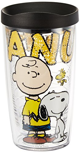 Tervis Peanuts Colossal Tumbler with Black Lid, 16-Ounce