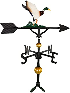 product image for Montague Metal Products 32-Inch Deluxe Weathervane with Color Duck Ornament