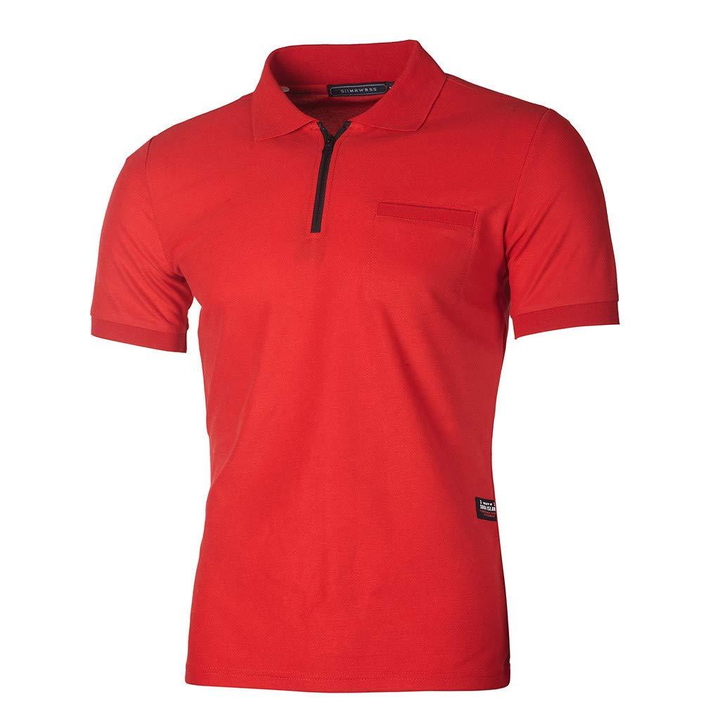 Bsjmlxg Fashion Personality Mens Casual Slim Pockets T Shirt
