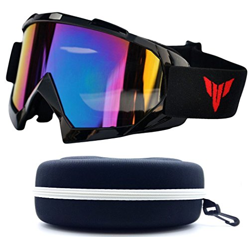 (#Goggle-Blk) One Stop Discount Shop Newest Sharp Designer Unisex Men Women Ski Goggles Winter Sport Motor Bike UV Protection Snowboarding Protective Safty Glasses Snowmobile Resistant Monster Large (Sunglasses For Men Newest)