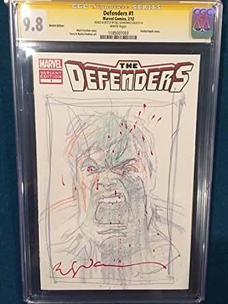 BILL SIENKIEWICZ ORIGINAL Sketch Art CGC 9.8 Signed Hulk Avengers not CBCS