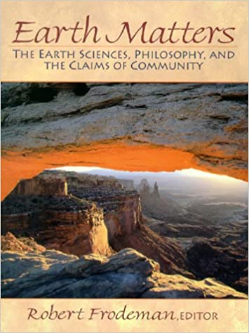 The Earth Sciences Earth Matters Philosophy and the Claims of Community