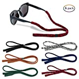 Glasses Strap - Sunglass Straps for Men Women【Pack of 6 + Microfiber Cleaning Cloths】