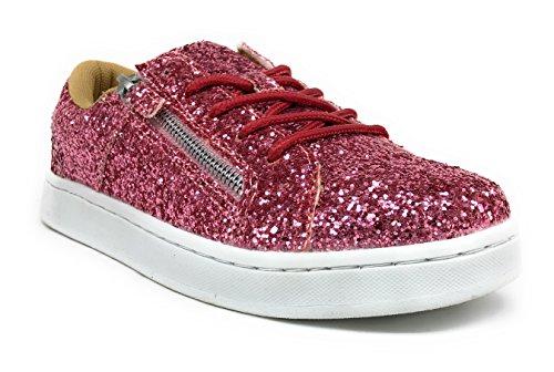 Kvinna 7540 Blanka Glitter Sekvens Tillfällig Gång Mode Skor Rosa