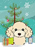 Caroline's Treasures BB1630GF Christmas Tree and Buff Poodle Garden Flag, Small, Multicolor