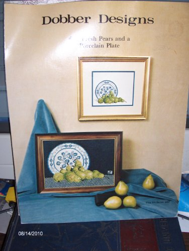 - #23 Fresh Pears and a Porcelain Plate