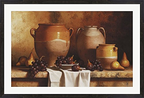 Confit Jars with Fruit by Loran Speck Framed Art Print Wall Picture, Espresso Brown Frame, 45 x 31 (Confit Jar)