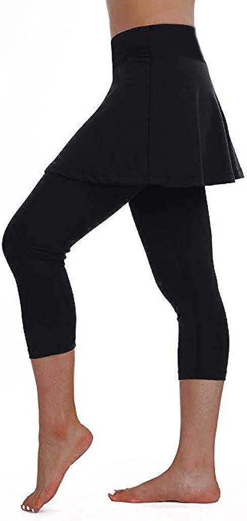TianWlio Gonna Sportiva da Donna Leggings da Tennis Pantaloni da Ginnastica Sportiva Culotte Tagliate