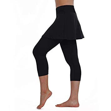 12shage Leggings con Faldas para Mujer, Leggings de Tenis y ...