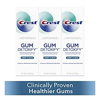 Crest Toothpaste Gum Detoxify Deep Clean, 4.1oz (Pack of 3) (B0791V11PS) | Amazon price tracker / tracking, Amazon price history charts, Amazon price watches, Amazon price drop alerts