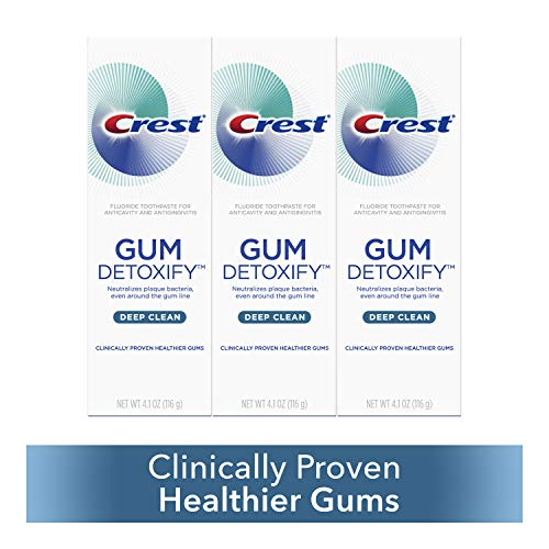 Crest Toothpaste Gum Detoxify Deep Clean, 4.1oz (Pack of 3) from Crest