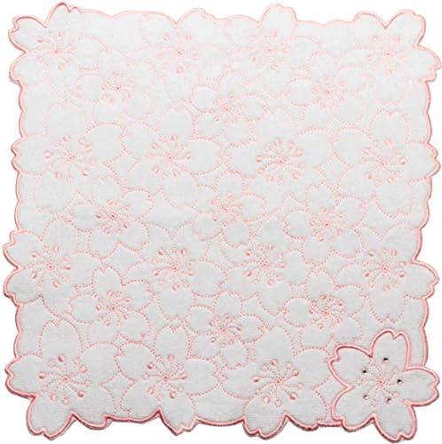 丸全(Maruzen) ミニタオル オールオーバー桜シロ 25×25cm