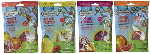 Torie & Howard Organic Gluten Free Chewie Fruities Candy 4 Flavor Variety Bundle: Blood Orange & Honey, Meyer Lemon & Raspberry, Pomegranate & Nectarine and Asst. Flavors, 4 Oz