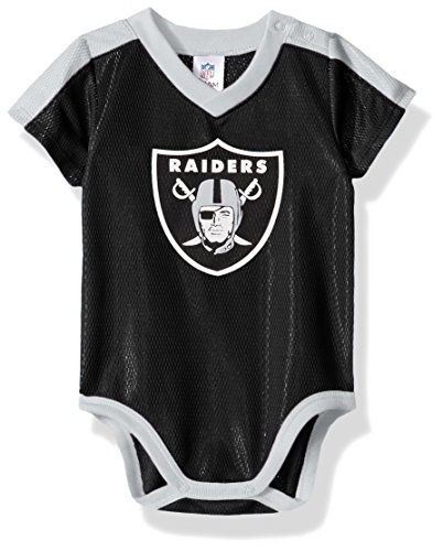NFL Oakland Raiders Unisex-Baby Dazzle Bodysuit, Black, 0-3 Months