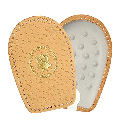 Genuine Leather Heel Support Pad Cup With Foam Cushion, Orthotic Shoe Insoles Inserts, Kaps Airflex, All Sizes (Women / 7-9 US / 38-40 EUR)