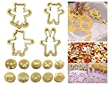 14 Bunny & Bear shape Fondant Cookie Cutters and Stampers for DIY Fondant Cake Chocolate Biscuit Play Doh Arts