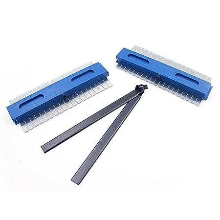 Volwco calibre de perfil de contorno 2019 calibre de perforaci/ón multifunci/ón de 7.9 pulgadas con conector de /ángulo herramientas de mano de carpinter/ía duplicador de contorno irregular