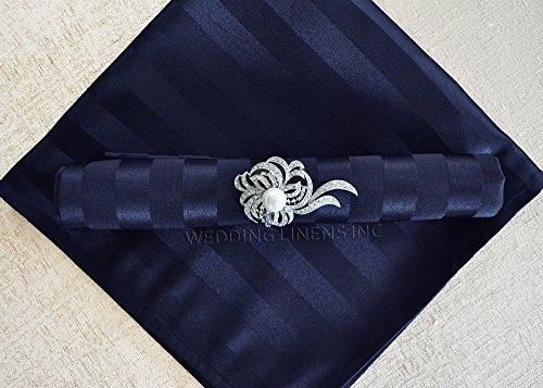 Wedding Linens Inc. 10 pcs Striped Jacquard Damask Polyester 20