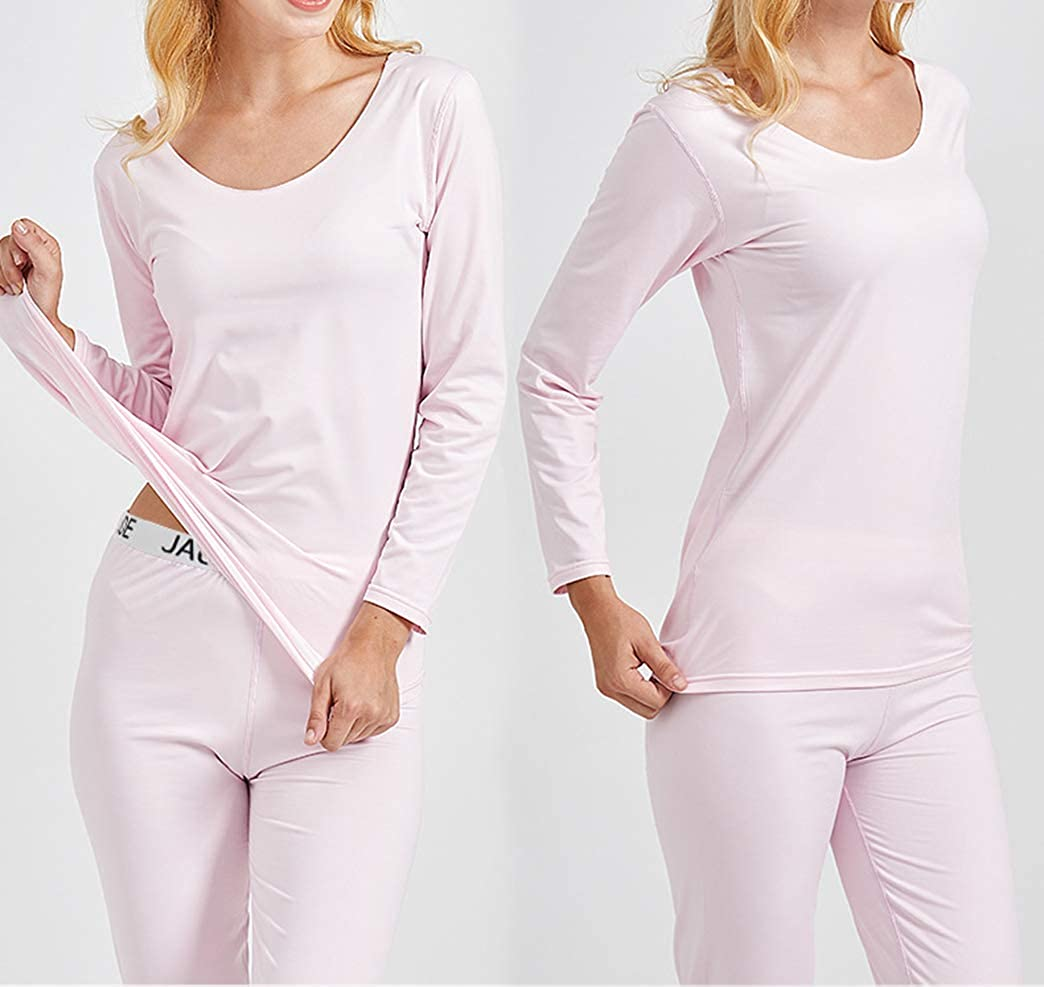 Seaoeey Women Seamless Thermal Underwear Set Ladies Constant Temperature Top and Bottom Warm Suit M18Sea12150e
