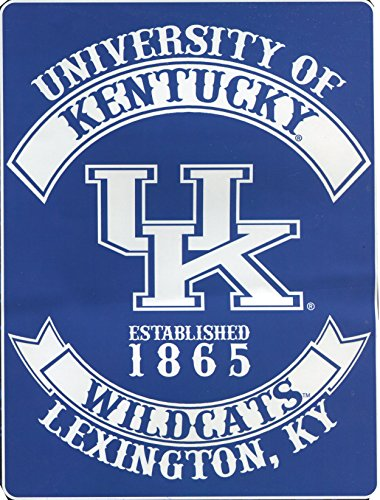 Augusta Sportswear NCAA Kentucky Wildcats Varsity Royal Plush Raschel Blanket, Blue, 60 x 80-Inch]()