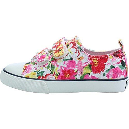 Polo Ralph Lauren Harbour Low EZ C Pink Floral Textile Junior Trainers Pink Floral