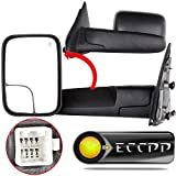 06 dodge tow mirrors - ECCPP Towing Mirrors Power Heated Black Manual for 2003-08 Dodge Ram 1500 2500 3500 Truck Side Set