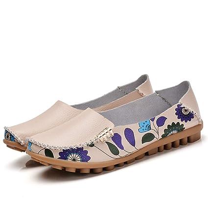 cb7da0b3e6fce Amazon.com: August Jim Women Loafers Shoes,Ballerina Flats Shoes ...
