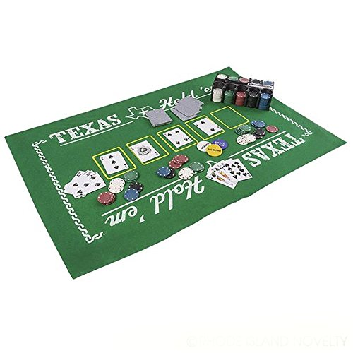 (Kicko Texas Hold'Em Poker Set - All-in-One Indoor and Outdoor Gambling Board Game for Kids - Perfect for Blackjack Tournament, Casino Royale Themed Party, Event Supply, Gift, and Bag Stuffers)