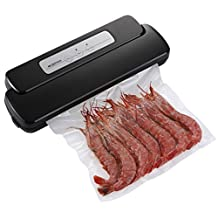 Vacuum Sealer, Geryon Automatic Food Sealer Vacuum Packing Machine with Starter Kit of Saver Roll and Bags for Food Preservation & Sous Vide Cooking-Black