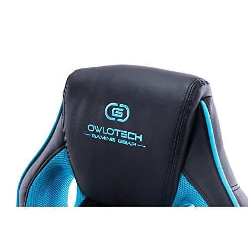 Owlotech Silla para Gaming, Poliuretano, Azul Celeste, 28x53x84 cm: Amazon.es: Informática