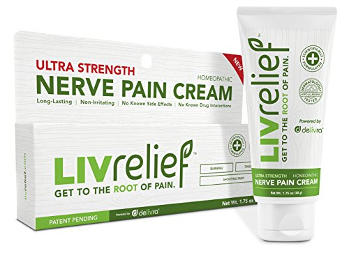 LivRelief Ultra Strength Natural Nerve Relief Cream - Homeopathic, Long Lasting Temporary Relief From Shooting Pain Like Pinched Nerves. Fast and Effective. Non (Shoulder Cream)