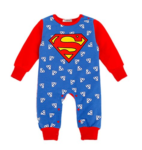StylesILove Super Hero Baby Toddler Boy Costume Jumpsuit (90/18-24 Months, (Superman 12-18 Month Costume)
