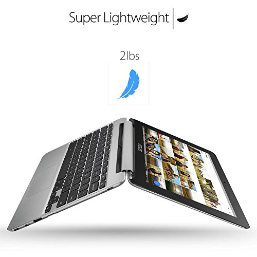 "2018 Newest Premium High Performance Asus 10.1"" Touchscreen Flip 2-in-1 Chromebook Rockchip RK3399 Processor 4GB RAM 16GB eMMC Hard Drive 802.11AC WIFI HDMI Webcam Bluetooth Chrome OS-Silver"