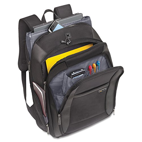 CheckFast Laptop Backpack, Ballistic Poly, 13 3/4 x 6 1/2 x 17 3/4, Black by U.S. LUGGAGE (Catalog Category: Computer/Supplies & Data Storage / Notebook/PDA & Mobile Computing Accessories) by U.S. Luggage
