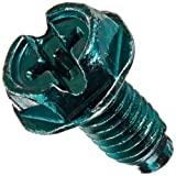 Solid Wire Grounding Hex Head Screw, Green (Pack of 100)