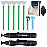 VisibleDust EZ Sensor Dual Power-X Cleaning Kit for Size 1.0x (24mm) Full Frame DSLR with 1ml Liquid vDust Plus, 1ml Sensor Clean Plus & 5 Vswabs + 2 Lenspens + Kit