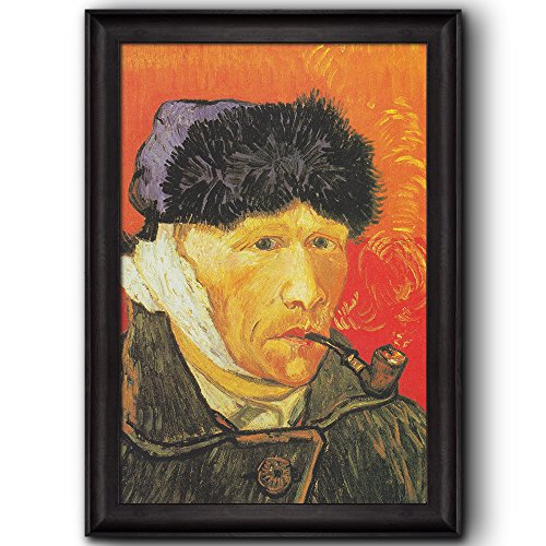 Self Portrait with Bandaged Ear and Pipe by Vincent Van Gogh Oil Painting Impressionist Artist Framed Art
